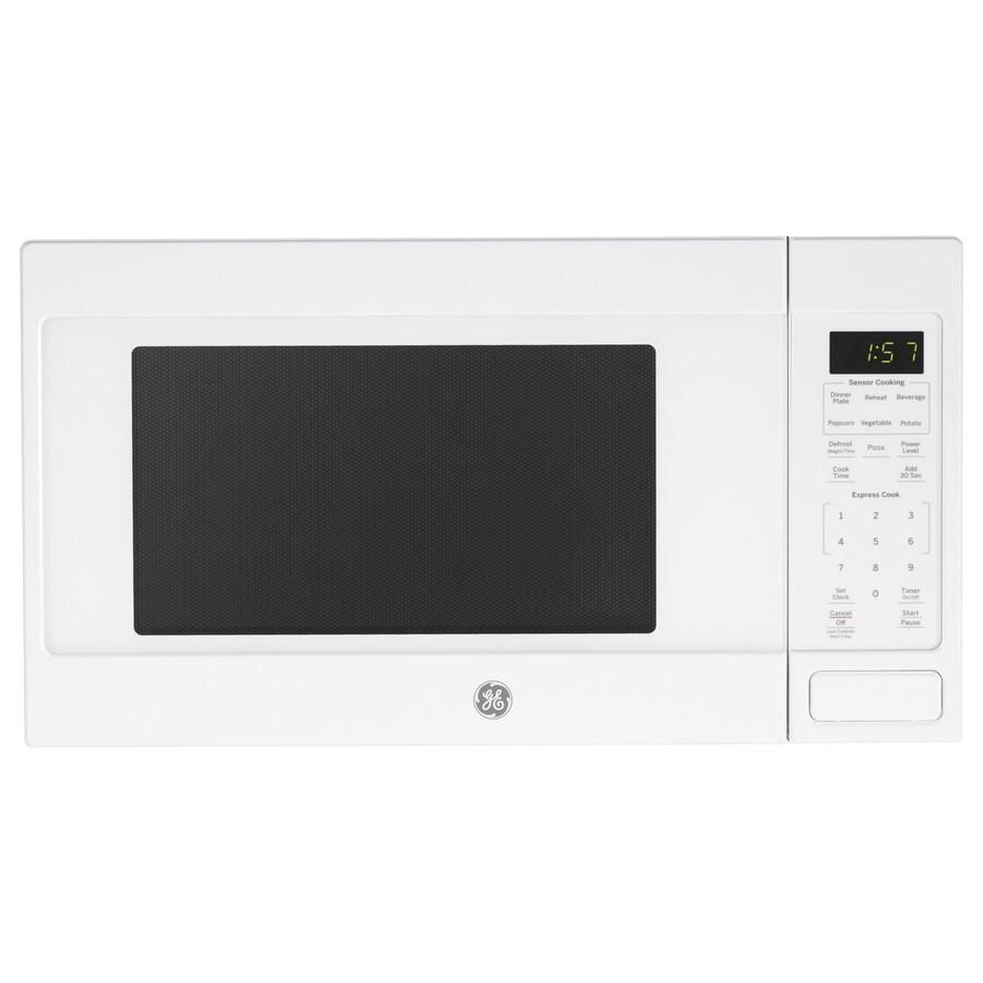 ge 1 6 cu ft 1150 watt countertop microwave white