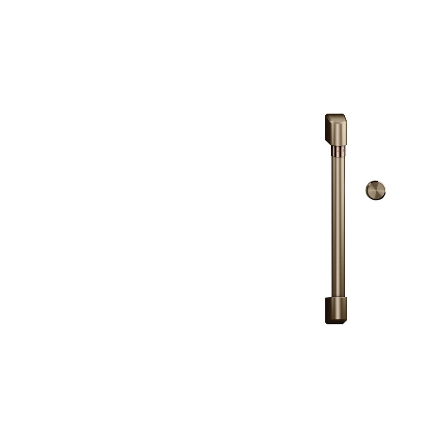cafe over the range microwave handle and knob kit brushed bronze