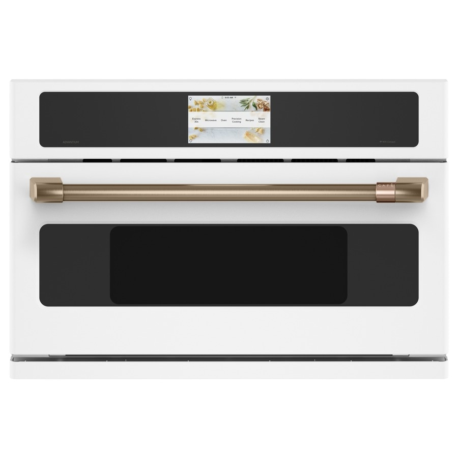 cafe advantium 1 7 cu ft built in microwave with sensor cooking controls and speed cook matte white lowes com