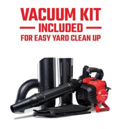 craftsman 27 cc 2 cycle 205 mph 450 cfm handheld gas leaf blower with vacuum kit [ 900 x 900 Pixel ]