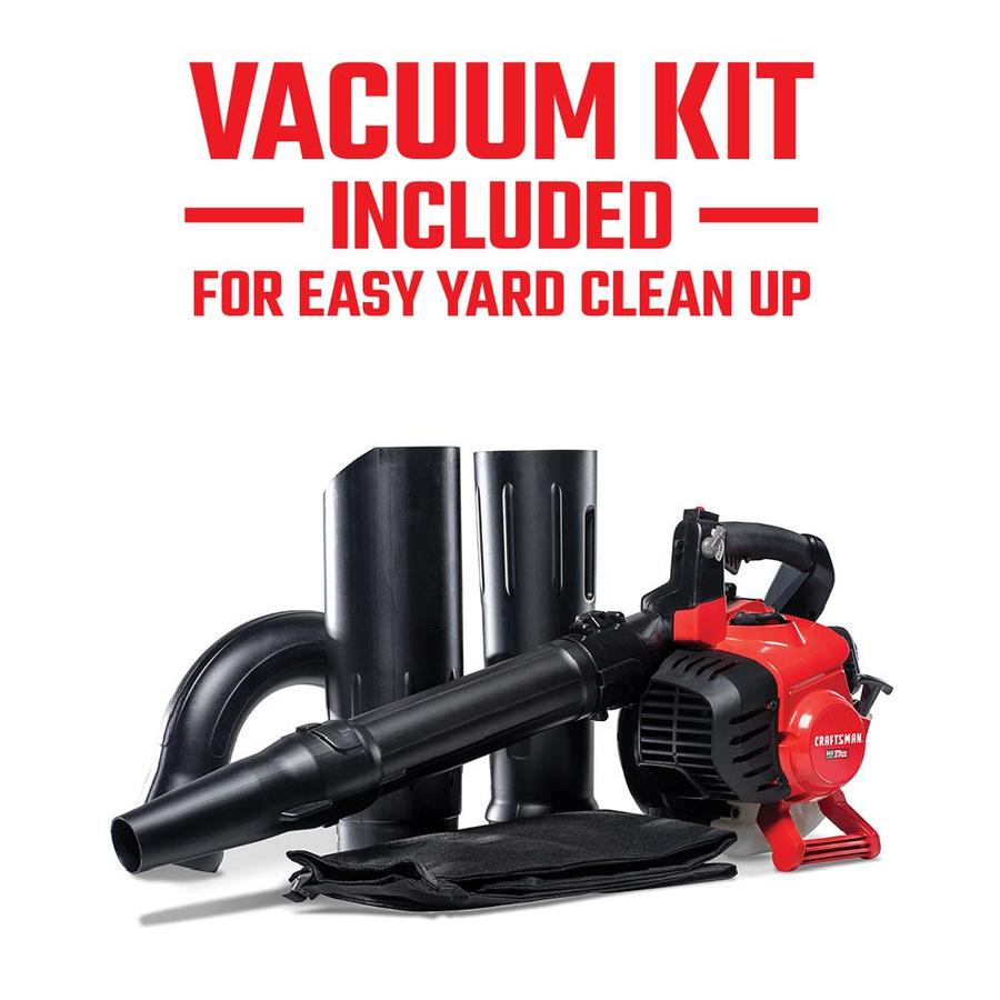 medium resolution of craftsman 27 cc 2 cycle 205 mph 450 cfm handheld gas leaf blower with vacuum kit