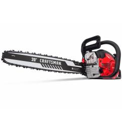 craftsman 46 cc 2 cycle 20 in gas chainsaw [ 900 x 900 Pixel ]