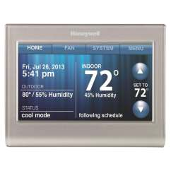 Honeywell Wifi Thermostat Kit 1970 Chevy C10 Wiring Diagram Silver Wi Fi Smart With Built In At Lowes Com