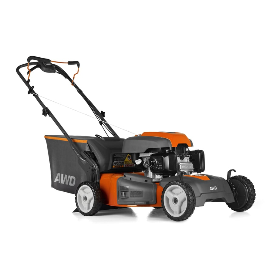medium resolution of husqvarna hu800awd 190 cc 22 in self propelled gas lawn mower with honda