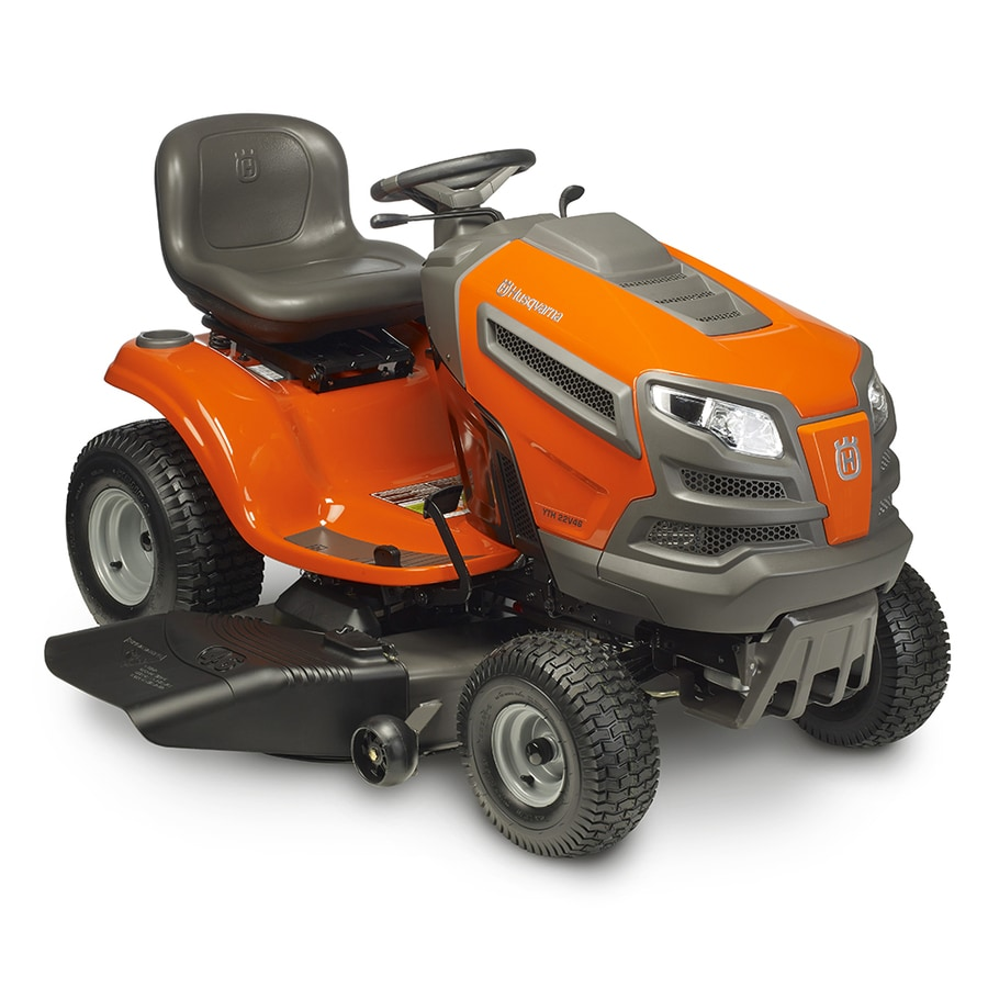 hight resolution of husqvarna yth22v46ca 22 hp v twin hydrostatic 46 in riding lawn mower with mulching capability kit sold separately carb