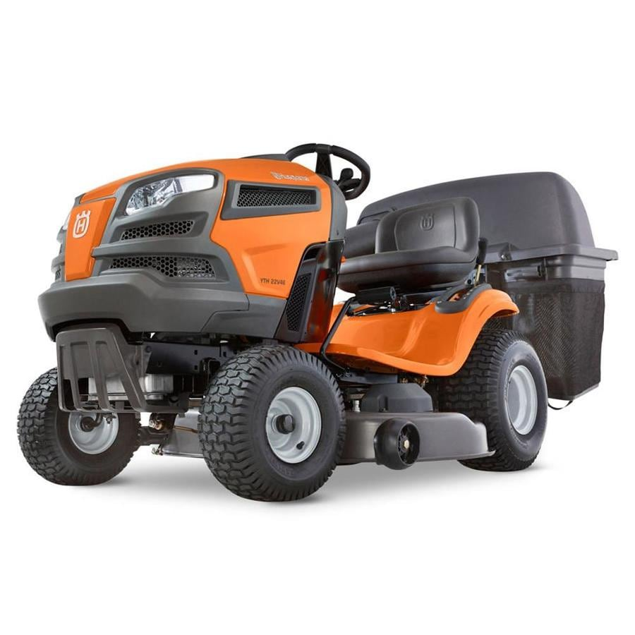 hight resolution of husqvarna yta22v46 22 hp v twin automatic 46 in riding lawn mower with mulching capability kit sold separately