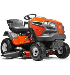 husqvarna yta24v48 24 hp v twin automatic 48 in riding lawn mower with [ 900 x 900 Pixel ]