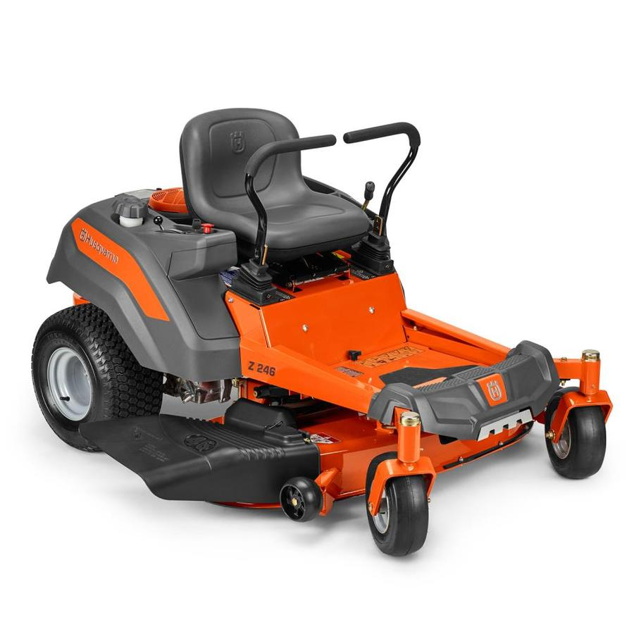 hight resolution of husqvarna z246 20 hp v twin hydrostatic 46 in zero turn lawn mower with mulching capability kit sold separately carb