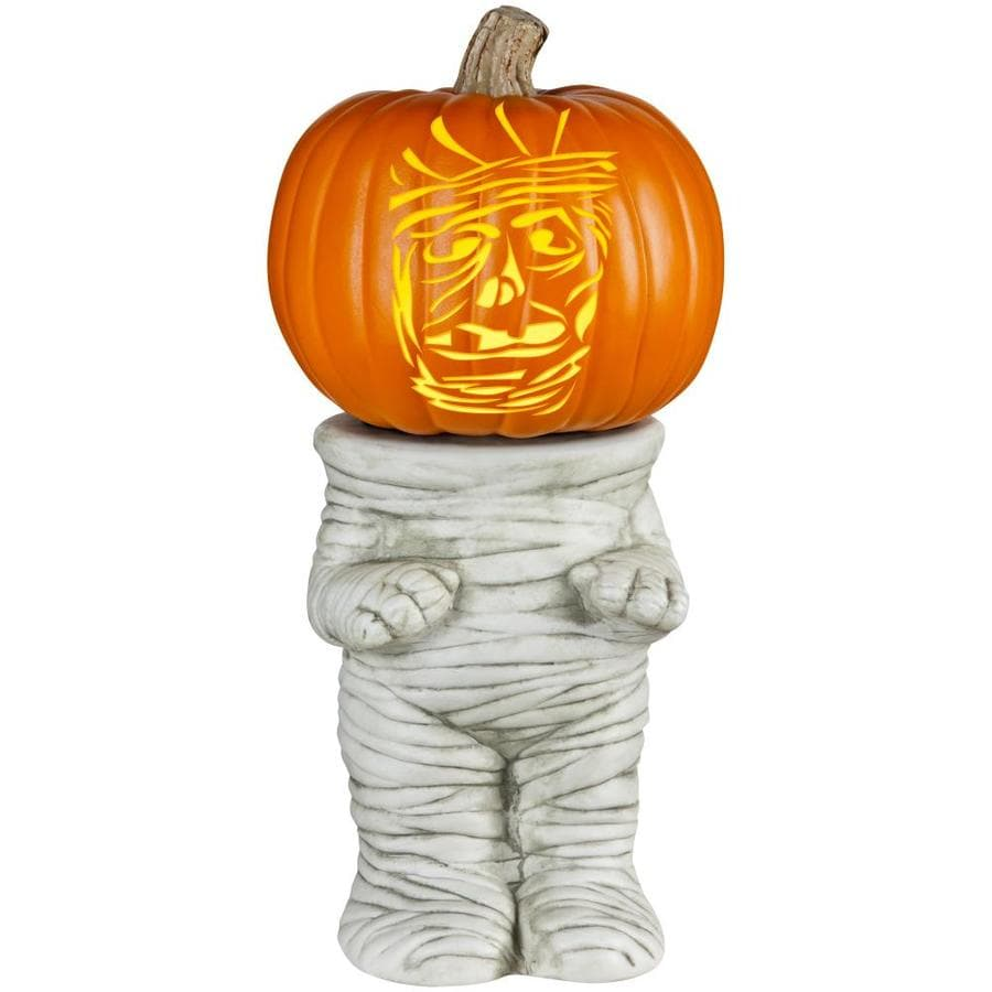 Shop Holiday Living Mummy Pumpkin Stand At Lowes Com