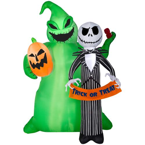 Disney The Nightmare Before Christmas 6.49-ft x 4.92-ft Lighted Jack Skellington Halloween Inflatable in the Halloween Inflatables department at ...
