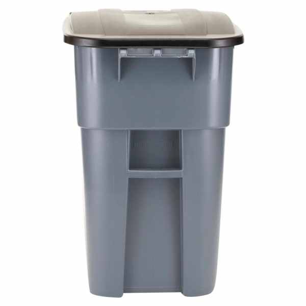 Rubbermaid Commercial Products Brute 50-gallon Gray Plastic Outdoor Wheeled Trash