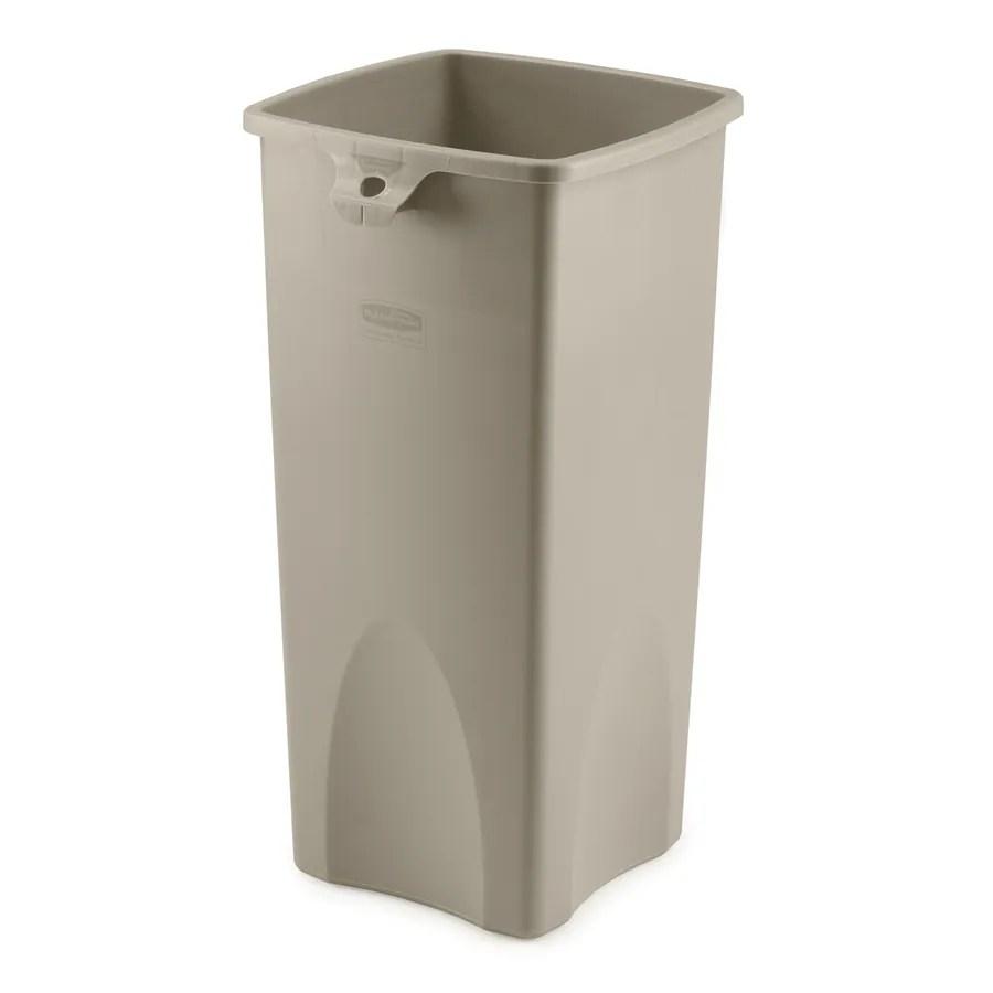 rubbermaid kitchen trash cans buffet shop commercial products untouchable 23-gallon ...