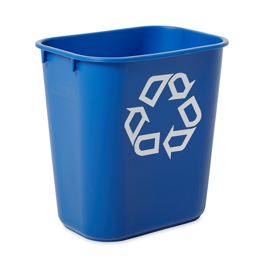 Rubbermaid Commercial Products 1 34Gallon Blue Recycling Bin at Lowescom