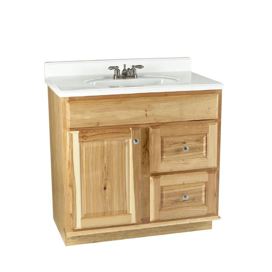 Allen  roth 36 Natural Carson Hickory Natural Bath Vanity at Lowescom