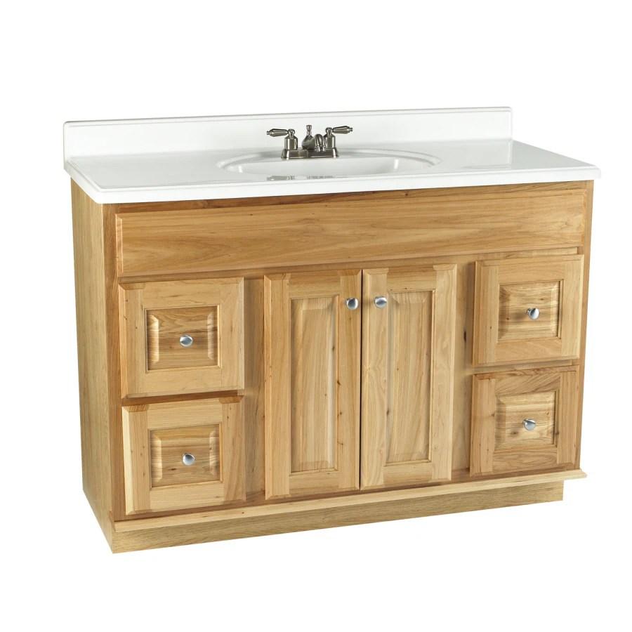 Allen  roth 48 Natural Carson Hickory Natural Bath Vanity at Lowescom