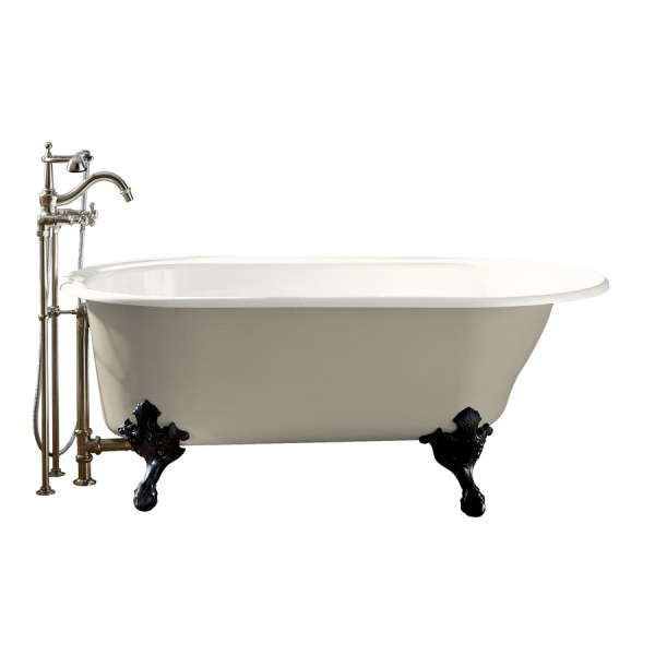 Kohler Iron Works Historic 66-in White Cast Clawfoot