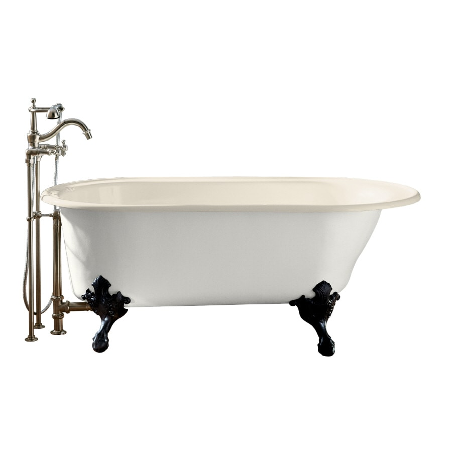 Shop KOHLER Iron Works Historic 66 In Almond With Reversible Drain At