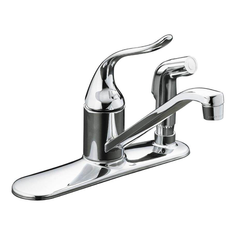 Consider three details before shopping to get the right faucet that fits your mounting. KOHLER Coralais Polished Chrome 1-Handle Deck Mount Low ...