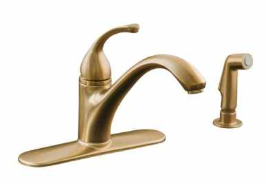 Brushed Bronze Kitchen Faucet