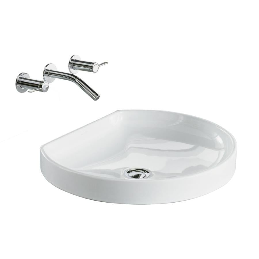 Shop KOHLER Watercove White Drop In Round Bathroom Sink At