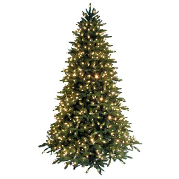 Ge 7-1 2' Cut Fraser Fir Artificial Christmas Tree With Clear Lights