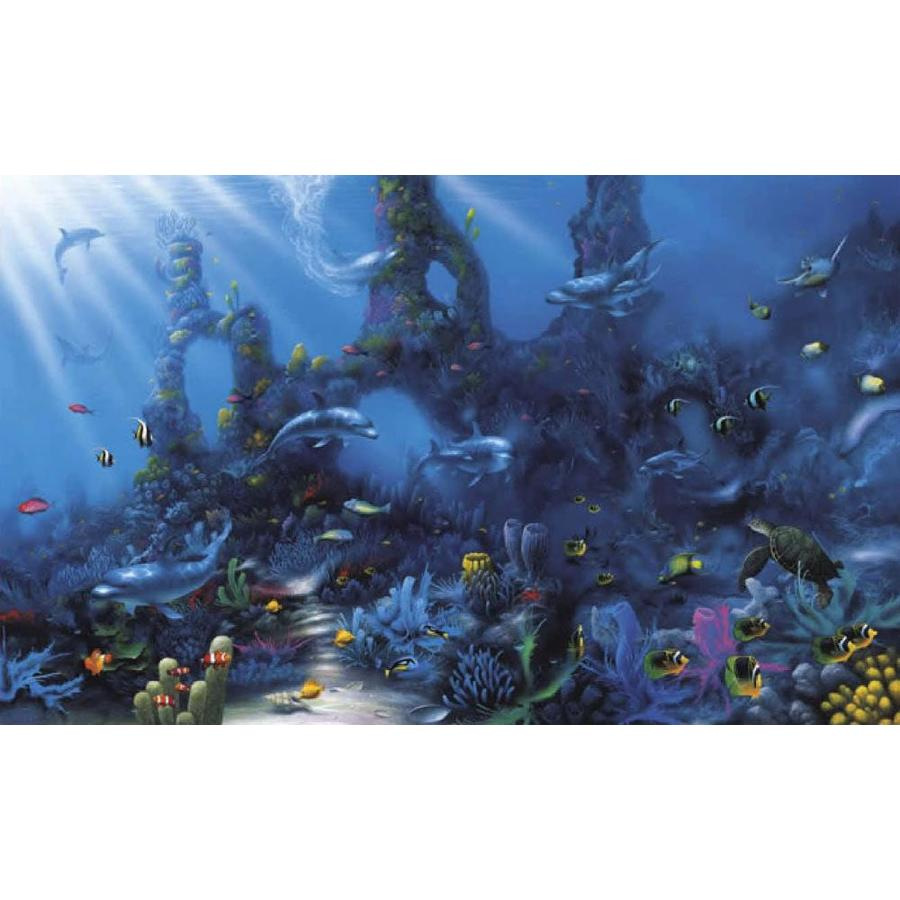 lowes kitchen appliances remodeling ideas for kitchens shop environmental graphics dolphin's paradise wall mural ...