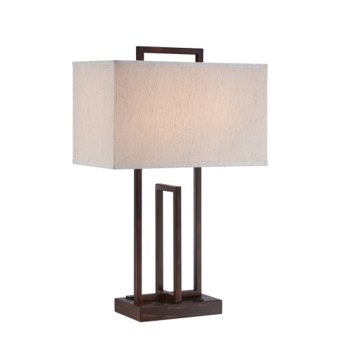 small resolution of lite source farren 26 5 in dark bronze standard table lamp with fabric shade