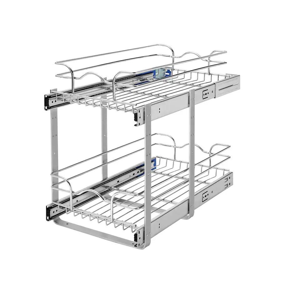 Shop Rev-A-Shelf 11.75-in W x 19-in 2-Tier Pull Out Metal