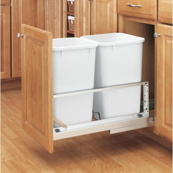 Rev a Shelf Double Pull Out Cabinet Trash Can