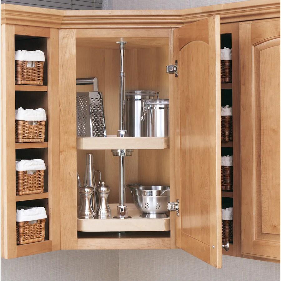 kitchen lazy susan portable island rev a shelf 2 tier wood d shape cabinet at lowes com