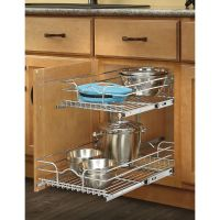 Shop Rev-A-Shelf 14.75-in W x 19-in H Metal 2-Tier Pull ...
