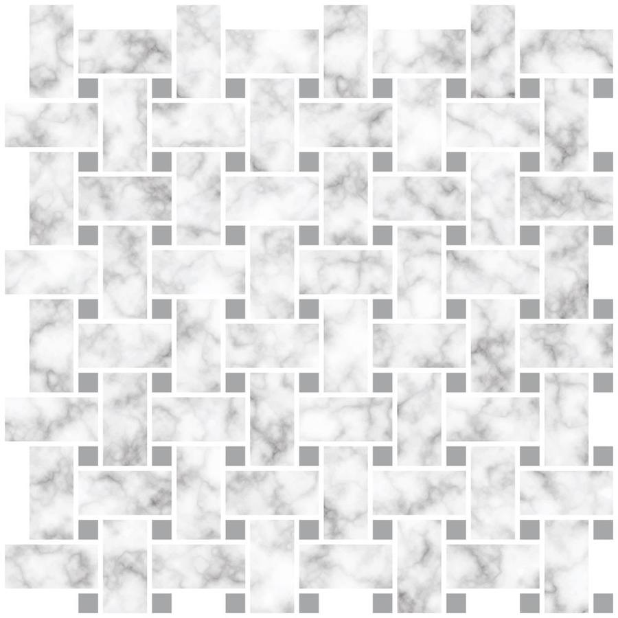 inhome basketweave carrara peel and stick backsplash tiles