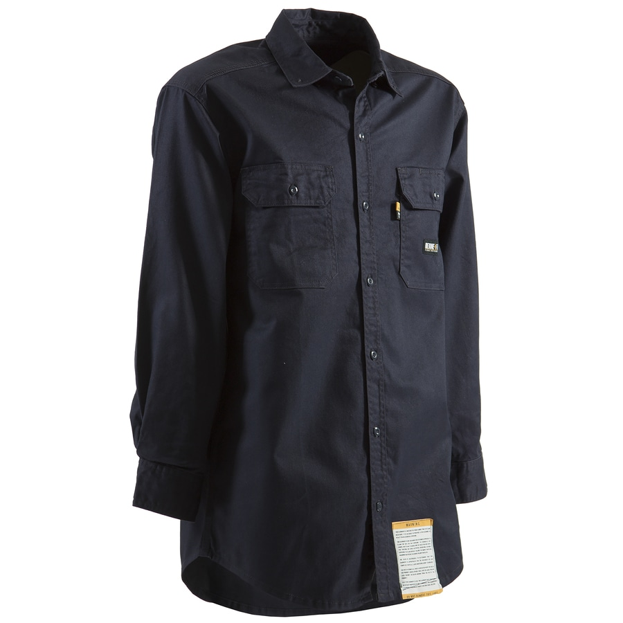 BERNE APPAREL Twill Long Sleeve Work Shirt XXLlong at
