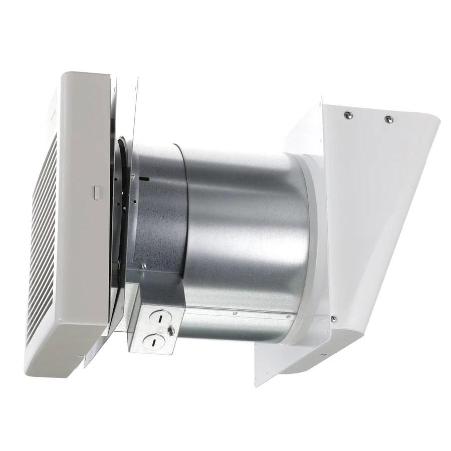 panasonic whisperwall 1 1 sone 70 cfm white bathroom fan energy star