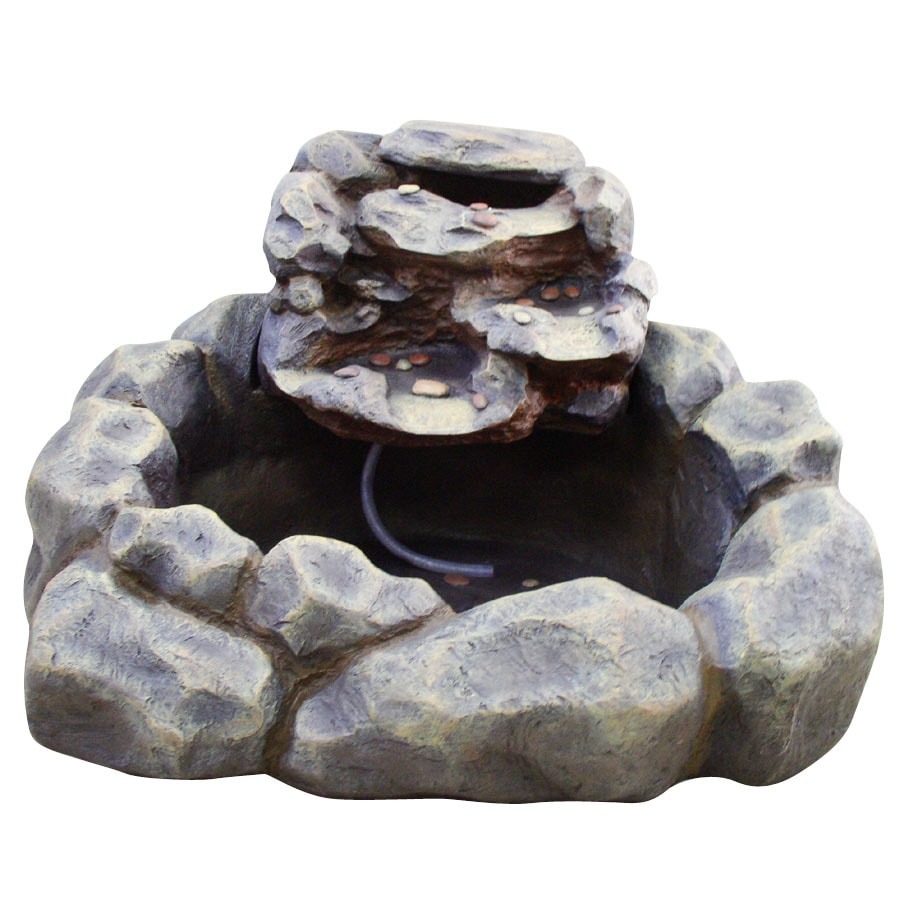 Beau Garden Treasures River Rock Fountain