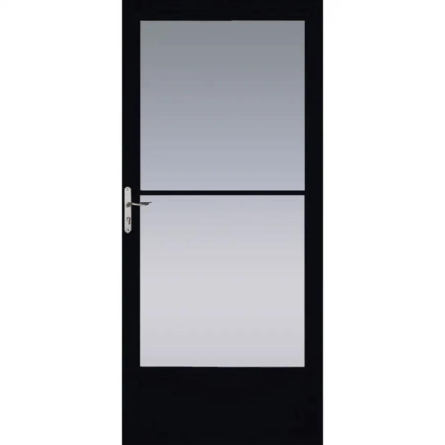 Pella Black Mid View Aluminum Storm Door Common 32 In X