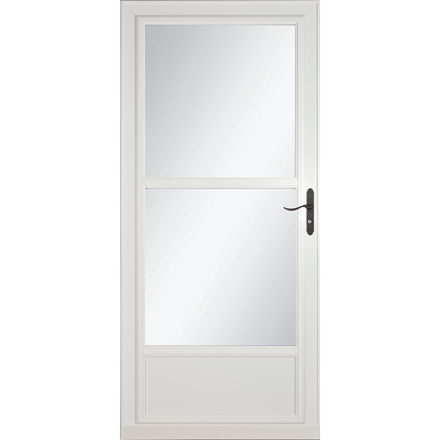 Larson Tradewinds White Mid View Aluminum Storm Door