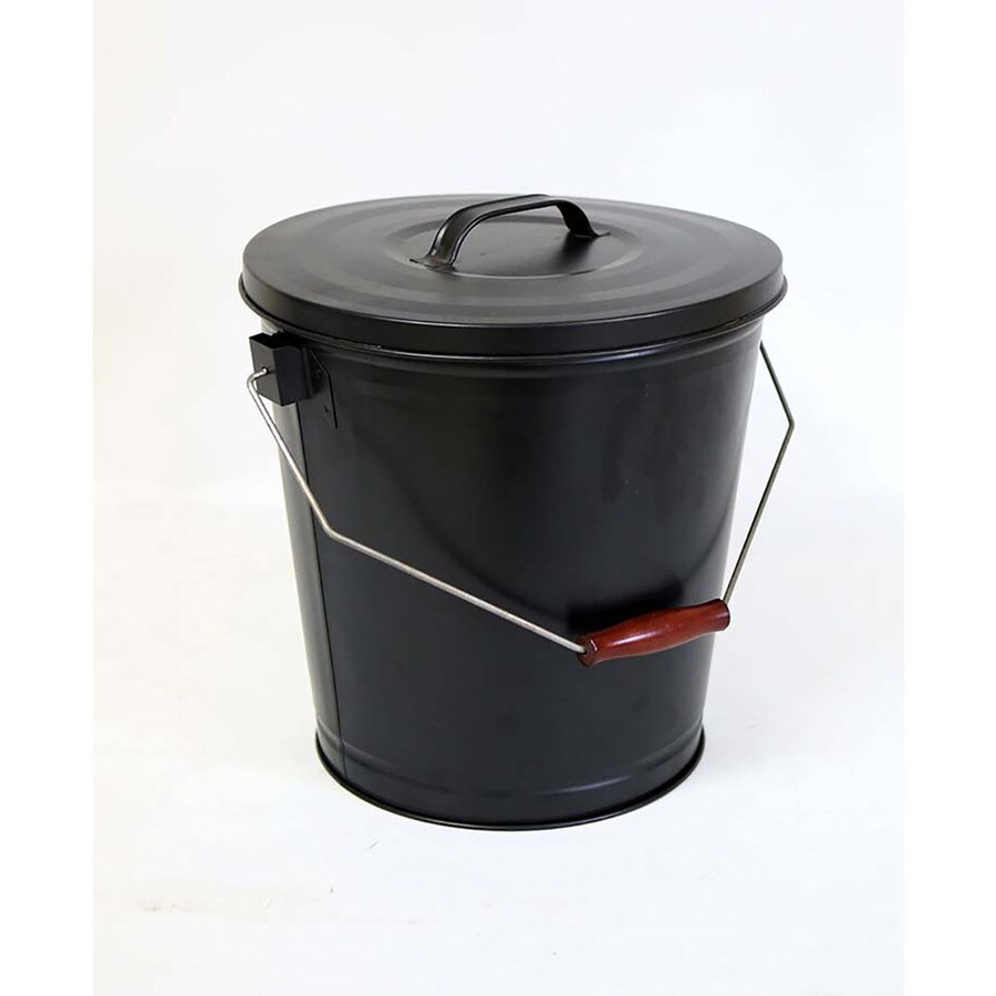 lowes kitchen appliances cabinets raleigh nc shop style selections black/powder coated steel ash bucket ...