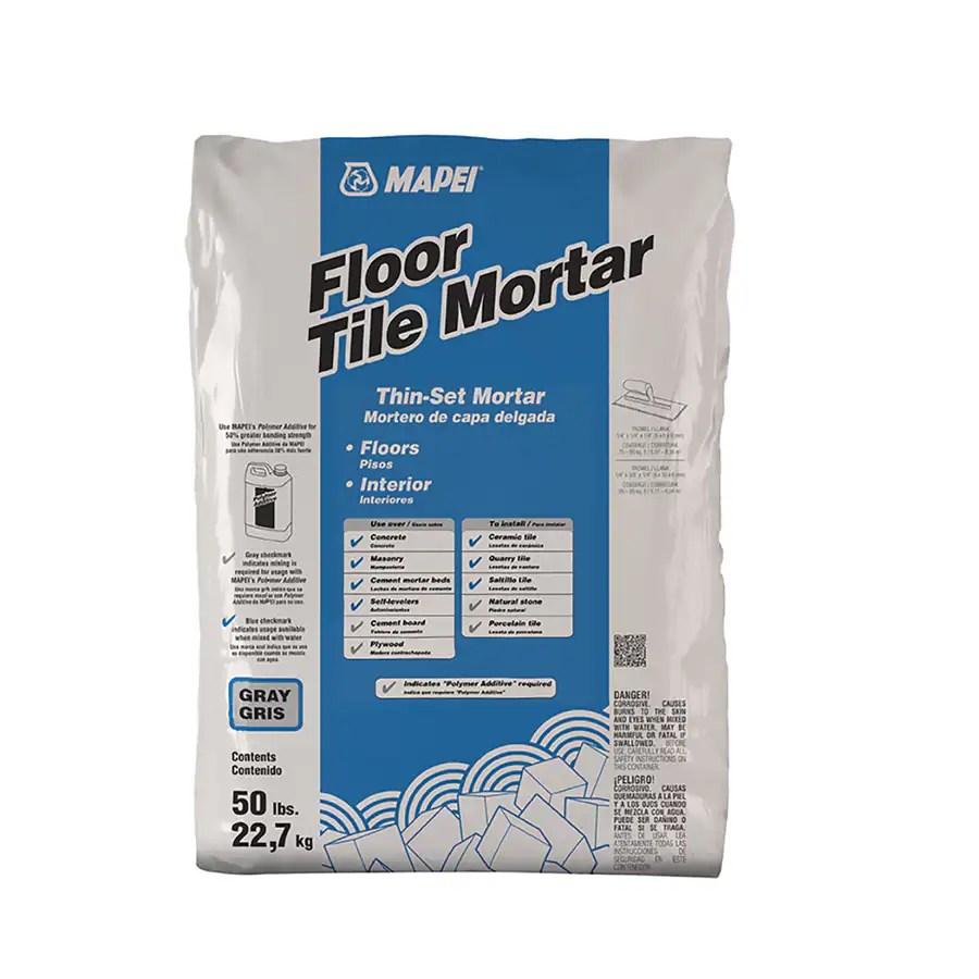 mapei floor tile 50 lb gray thinset mortar tile mortar lowes com