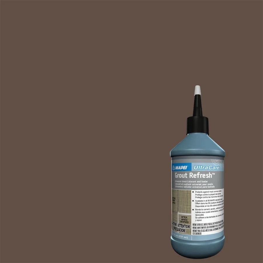 mapei grout refresh 8 fl oz cocoa ceramic porcelain tile grout sealer squeeze bottle