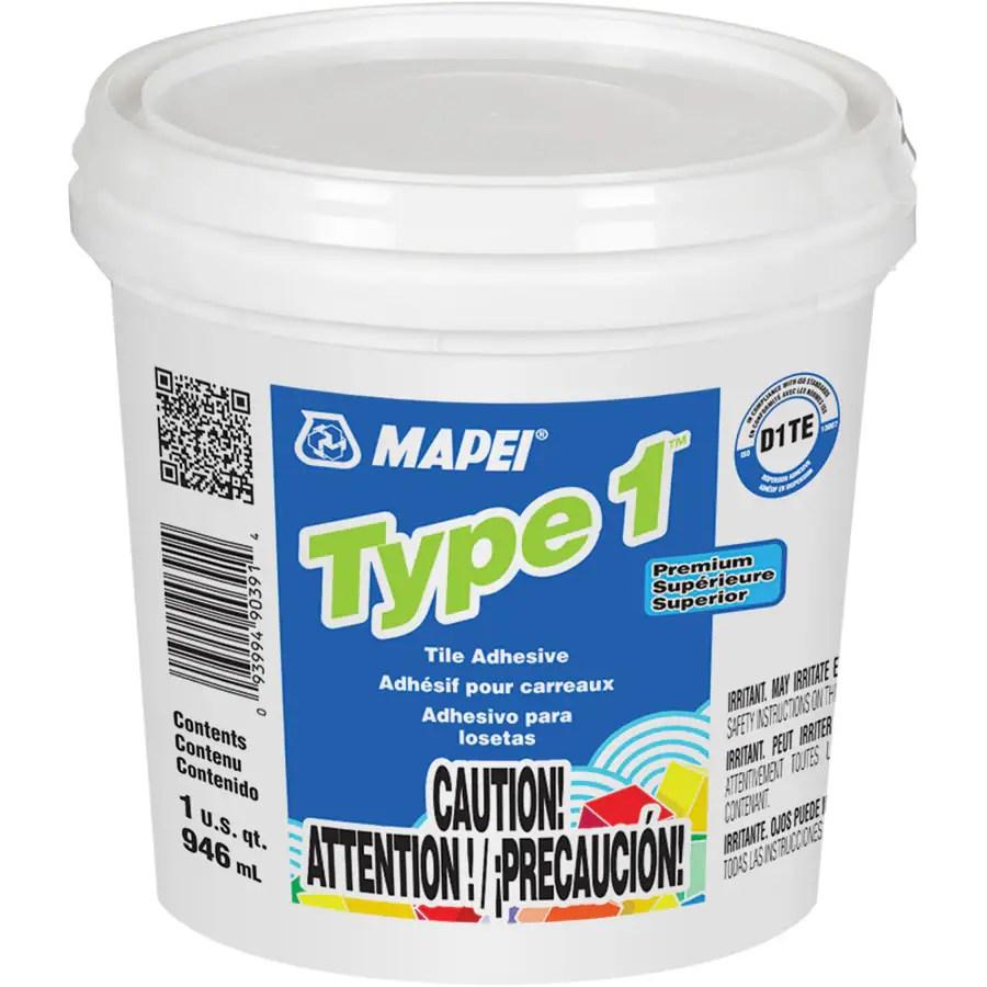 mapei type 1 ceramic tile mastic 1 quart