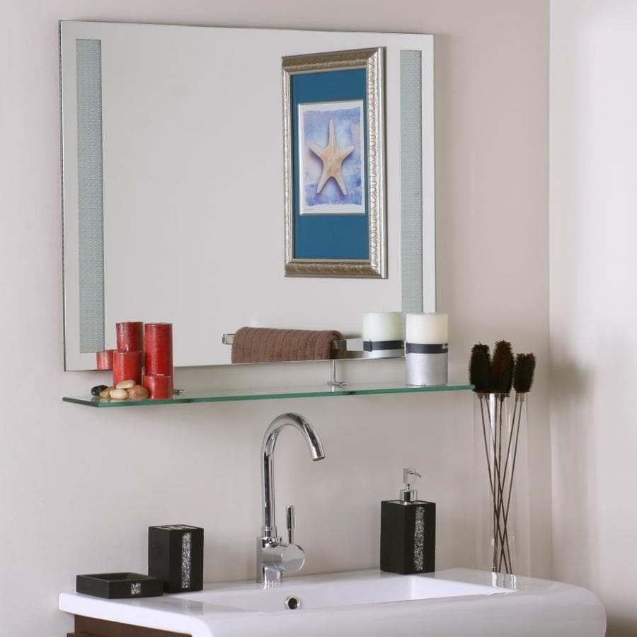 Decor Wonderland 31 5 In Rectangular Frameless Bathroom Mirror In The Bathroom Mirrors Department At Lowes Com
