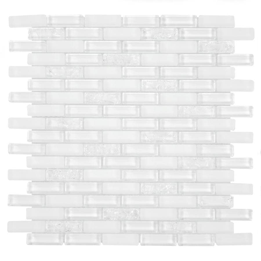 gbi tile stone inc gemstone white 12 in x 12 in glossy glass brick subway wall tile