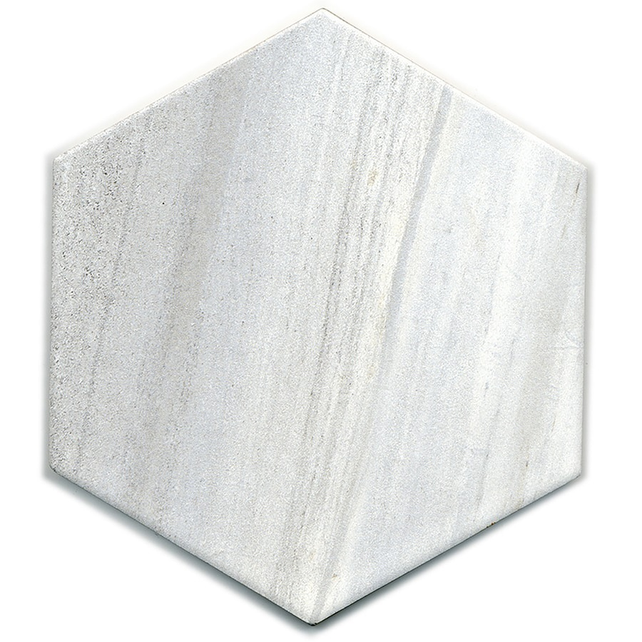 style selections chique gris 8 in x 8 in glazed porcelain marble look floor and wall tile