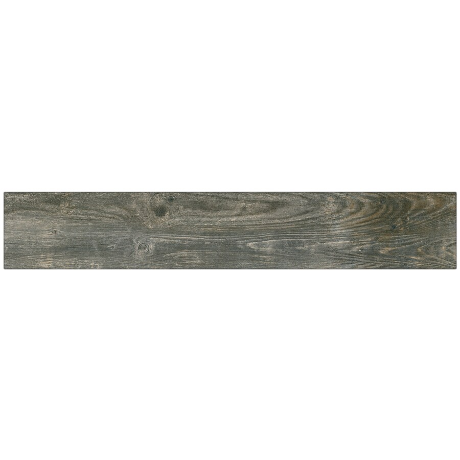 style selections kaden reclaimed 6 in x 36 in glazed porcelain wood look floor tile