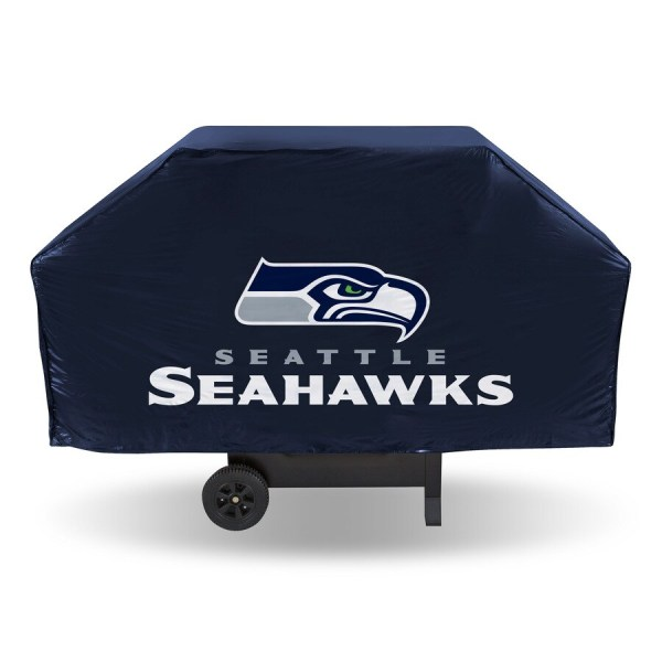 Rico Industries Tag Express Universal 68-in Black Seattle Seahawks Grill Cover