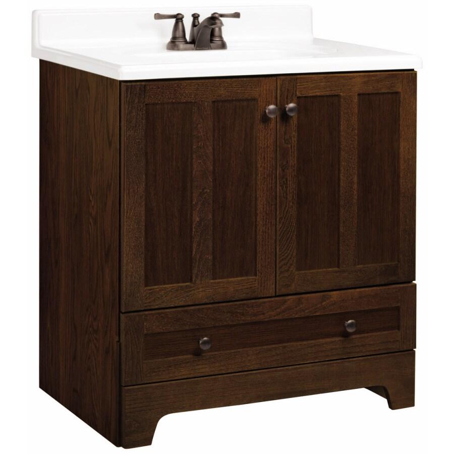 ESTATE by RSI Ashton Cognac Oak 30in Casual Bathroom Vanity at Lowescom