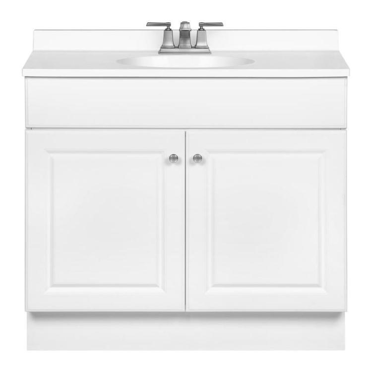 Image Result For Project Source White Integral Single Sink Bathroom Vanity