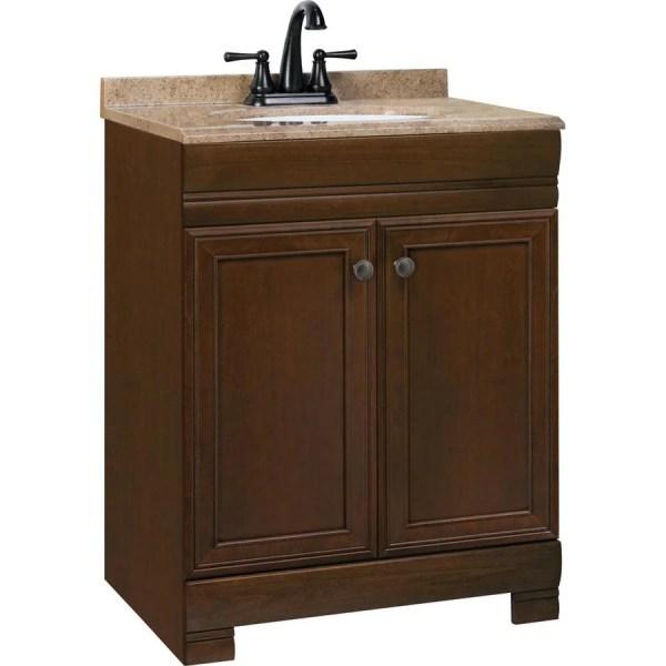 Style Selections Windell 24.5-in Auburn Single Sink