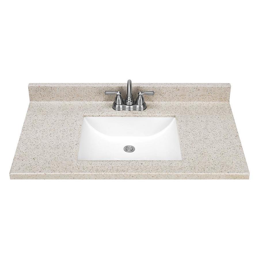37in Dune Solid Surface Bathroom Vanity Top at Lowescom